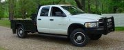Sid - Shreveport, LA 2003 Dodge 3500 SRW with Rickson 19.5 black powder coated wheels and 245/70R19.5 Tires.